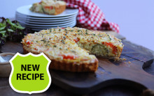 Cheesy Broccoli & Tomato Quiche