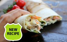 BBQ 'Chicken' Slaw & Cheese Wrap