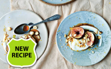 Coffee-poached Figs with Orange & Hazelnuts