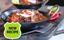 Chilli Hotpot with Black Beans, Lentils & Chocolate