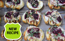 Cashew Cream & Beetroot Crostini