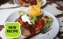 Sweet Potato, Spicy Black Beans & Guacamole