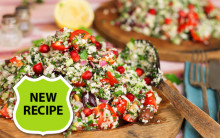 Cauliflower Tabbouleh with Lemon & Olive Oil Dressing
