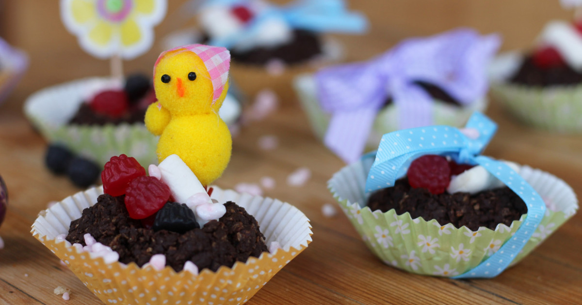 Vegan Chocolate Easter Nests Vrc Veganrecipeclub Org Uk