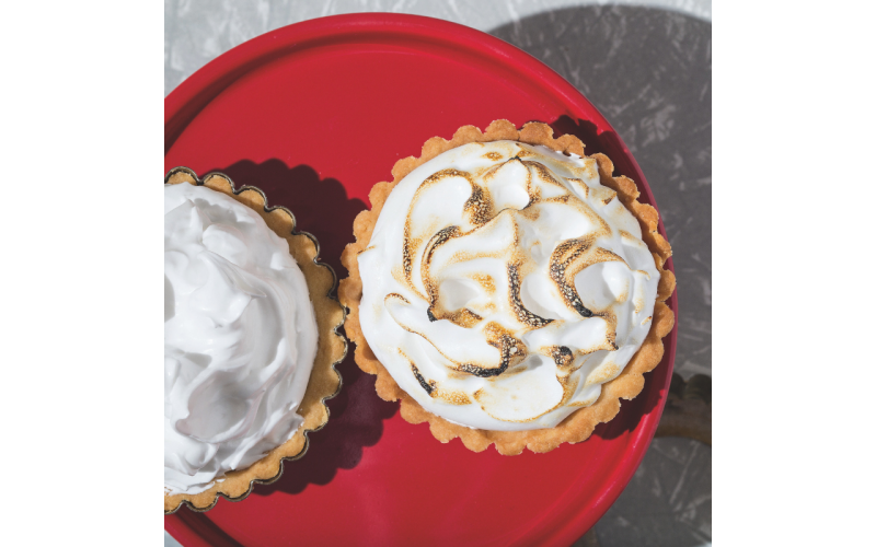 Vegan Cherry Meringue Pie