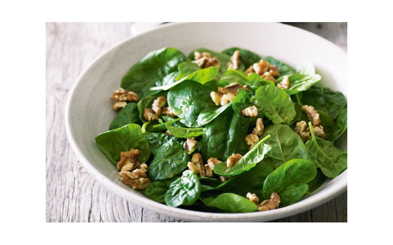 Warm Walnut & Spinach Salad