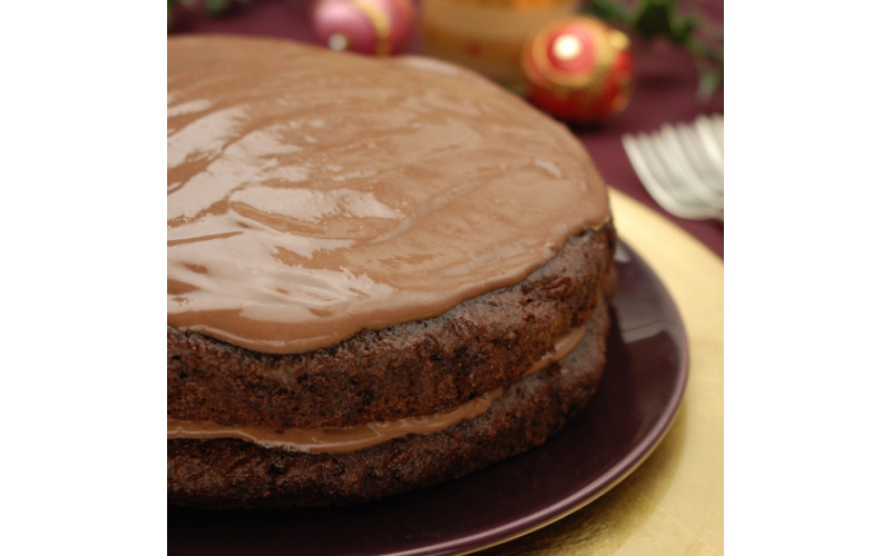 Chocolate Cake with Chocolate Butter Cream Icing