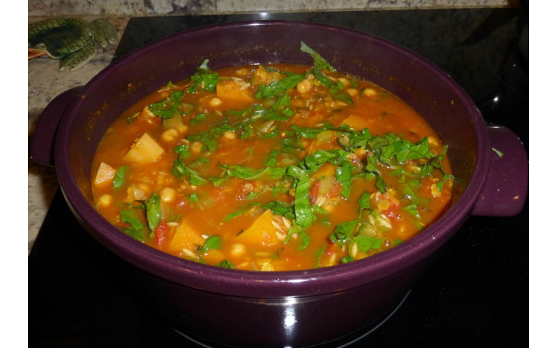 North African Squash & Chickpea Stew