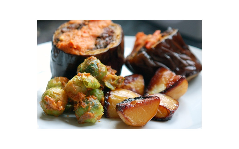Brussels Sprouts with Satay Sauce