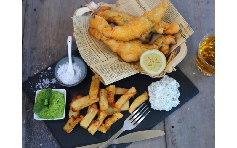 Banana Blossom Vegan Fish 'n' Chips