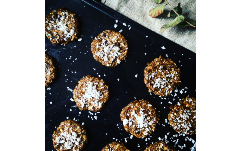 Banana Cardamom & Coconut Biscuits