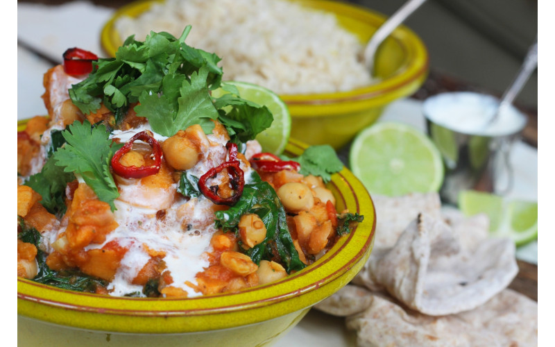 Chickpea, Sweet Potato & Tomato Curry