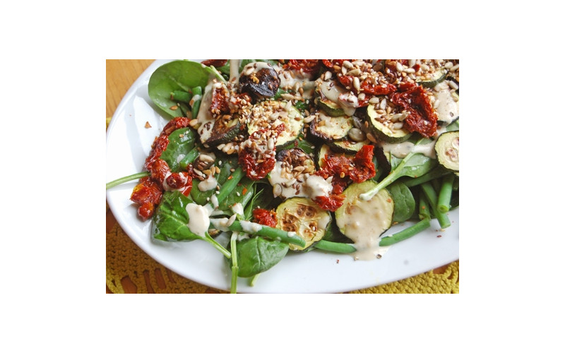 Bean, Courgette and Spinach Salad