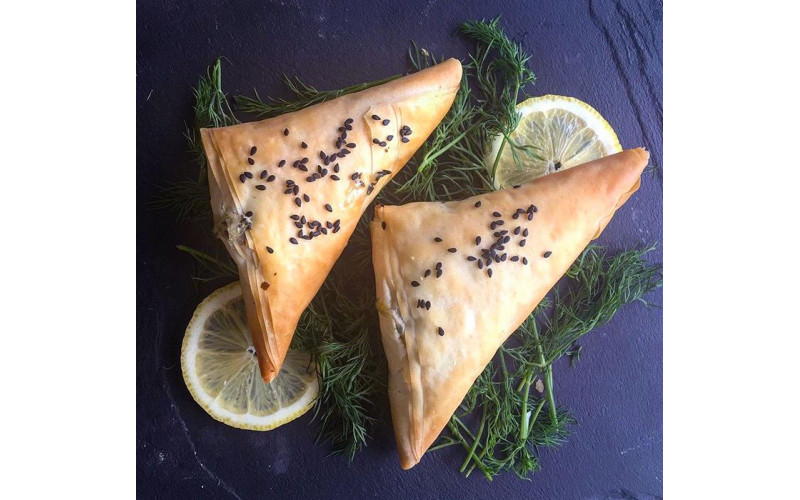 Spinach & 'Feta' Filo Triangles