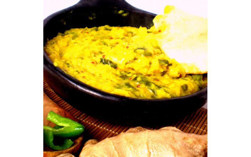 Mung Dhal with Spinach