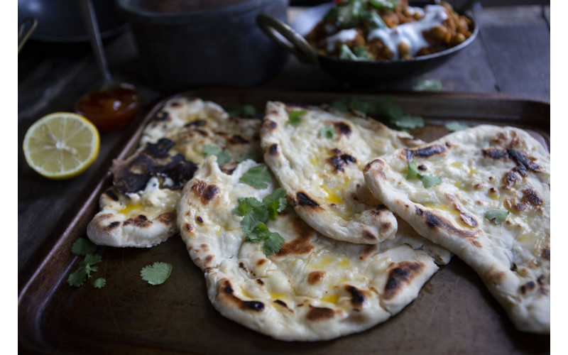Easy Vegan Naan Bread