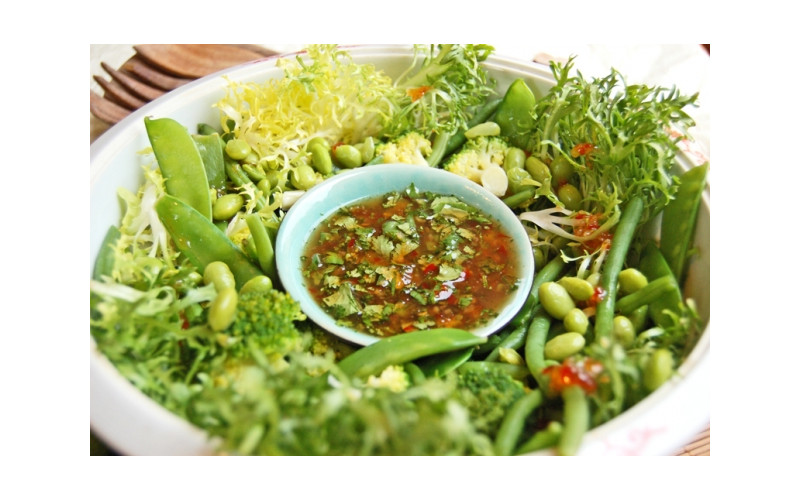 Oriental Bean Salad with Sweet Chilli, Lime & Coriander Dressing