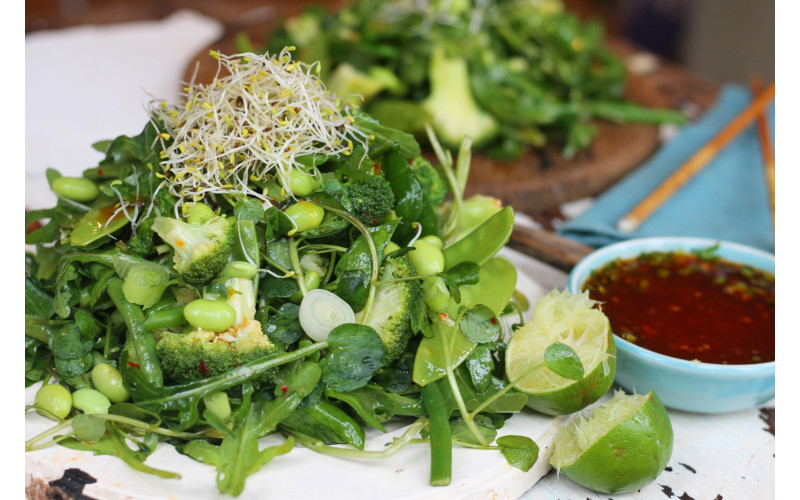 Oriental Bean Salad with Sweet Chilli & Lime Dressing