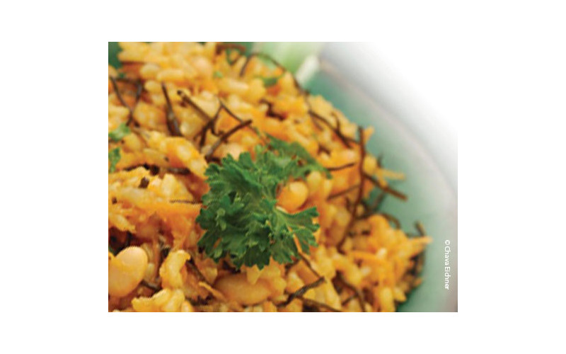 Carrot & Arame Wholegrain Salad with Oriental Omega-3 Dressing