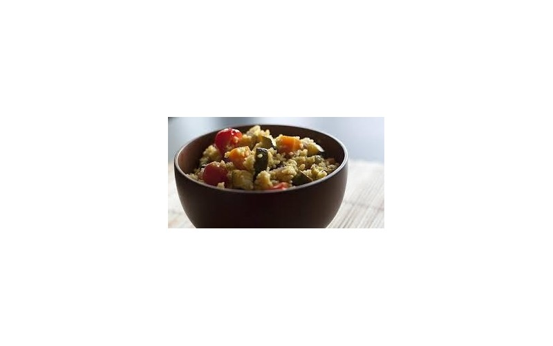 Roasted Mediterranean Vegetables with Couscous
