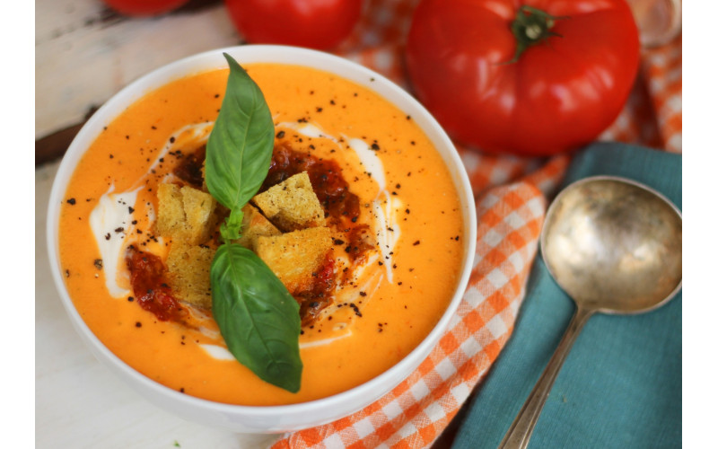 Quick and Easy Tomato & Lentil Soup