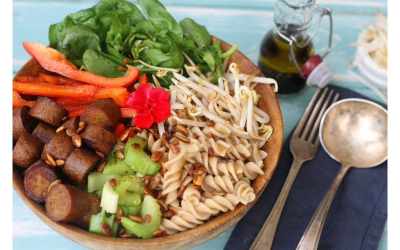 Sausage & Pasta Salad with Wholefood Option