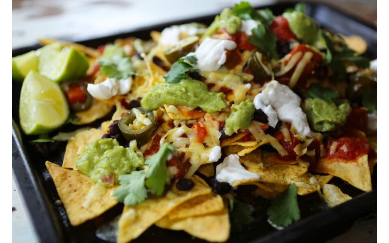 Loaded Nachos (supermarket style)