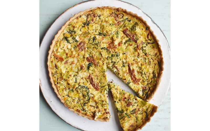 Easy Quiche with Broccoli & Sundried Tomatoes
