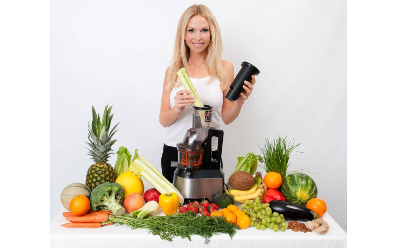 Anika Swansea - vegan juicing section