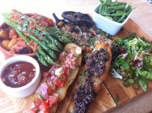 Vegan tapas at the Daffodil Inn