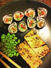 Practising Sushi Making