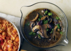 Giant Mushroom & Green Bean Ragout | VRC | veganrecipeclub.org.uk