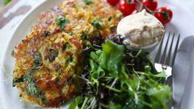 Spinach & Potato Rosti with Tofu