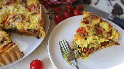 Mediterranean Vegetable & 'Feta' Tart