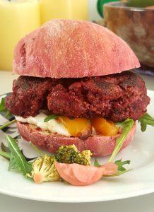 Seitan & Beetroot Burgers