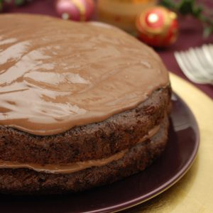 Sugar-free Chocolate Cake with Chocolate Butter Cream Icing