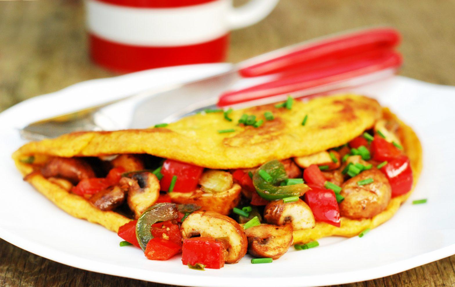 Brunch Omelette with Smoky Garlic Mushrooms