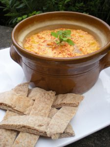 Red Pepper Hummus with Smoked Paprika