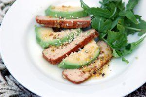 Avocado & Smoked Tofu Salad with Mustard Vinaigrette