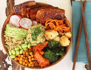 Buddha Bowl Super Salad with a Choice of Three Dressings