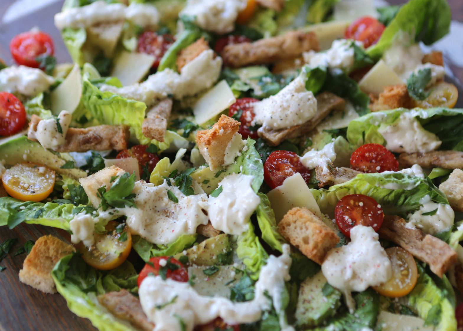 Chickless Caesar Salad