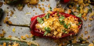 Roasted Chillies Stuffed with Cashew Cheese