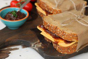 Vegan Cheese & Pickle Sandwiches