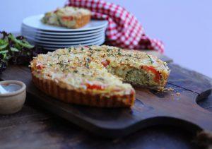 Cheesy Broccoli & Tomato Quiche
