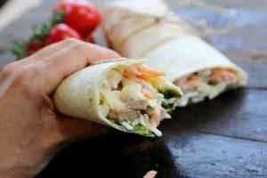 BBQ 'Chicken' Slaw & Cheese Wrap