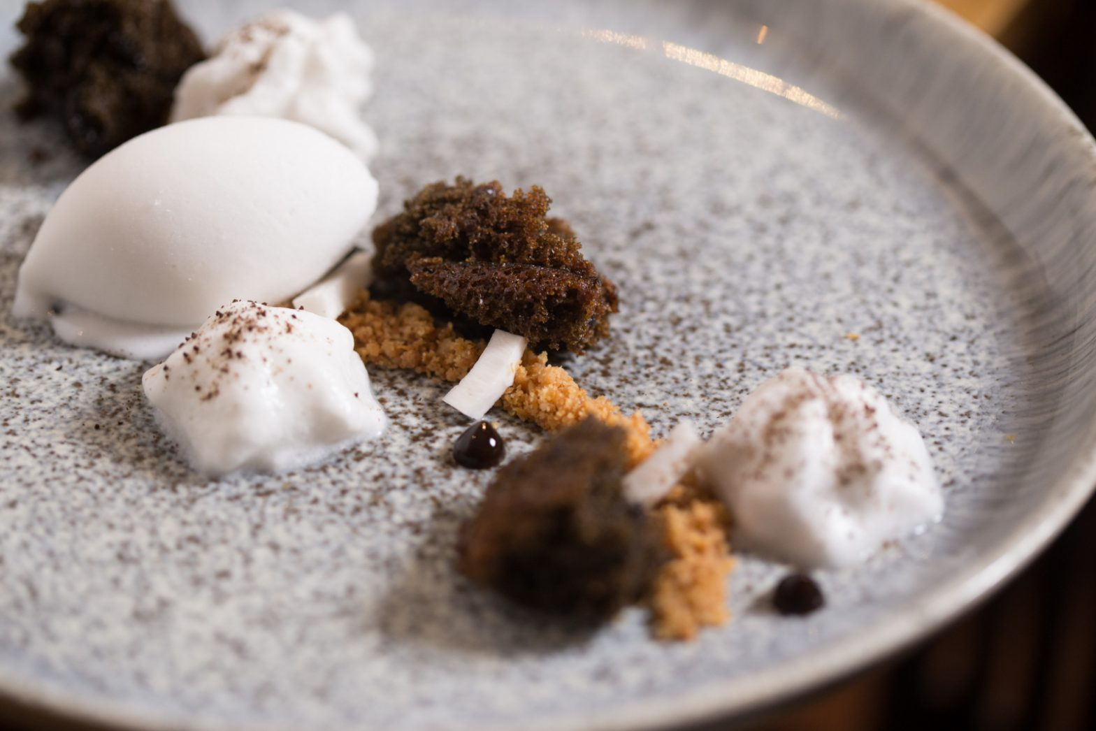 Coffee Cake with Coconut Sorbet