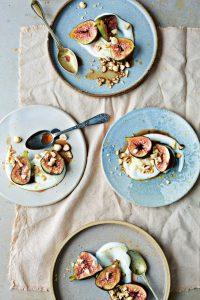 Coffee-poached Figs with Orange & Hazelnuts