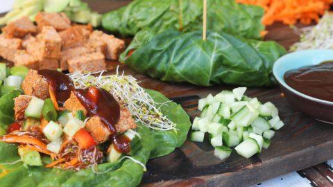 Fast & Leafy Oriental Wraps