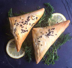 Spinach & 'Feta' Filo Triangles