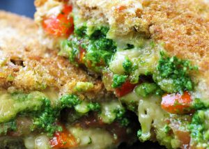 Mega Melty Vegan Cheese Sandwich/Toastie with Pesto